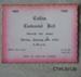 Ticket, Catlins Centennial Ball, admission ticket, 1966; [?]; 1966; CT99.3012b