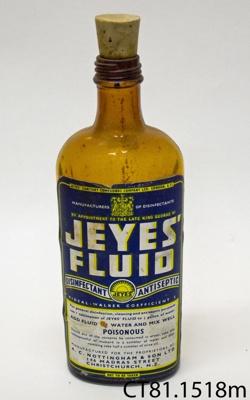 Bottle [Jeyes' Fluid]; A C Nottingham & Son Ltd; [?]; CT81.1518m