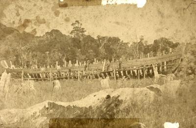 Photograph [Boat under Construction, McPhee]; [?]; c1870s; CT79.1078b.2