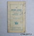 Booklet, The Road Code 1936; Transport Department, New Zealand; 1937; CT96.2077.2