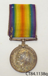 Medal, military; [?]; c1919; CT84.1138q