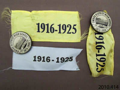 Badges, commemorative; [?]; c1951; 2010.414