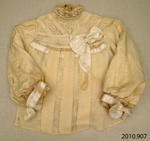 Bodice, wedding dress; [?]; 1907; 2010.907
