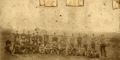 Photograph [Pioneer Footballers, Owaka]; [?]; [?]; CT79.1051d