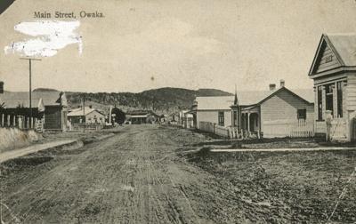 Photograph [Main St, Owaka]; R Clark & Co; c1903; CT85.1697c