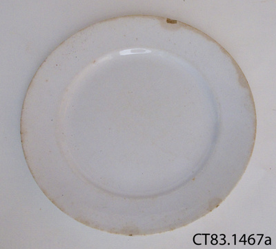 Plate, side; William Adams & Sons; After 1891; CT83.1467a