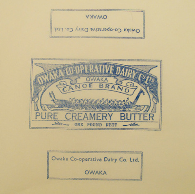 Paper, butter; Owaka Co-Operative Dairy Co Ltd; 1923-1973; 2010.895