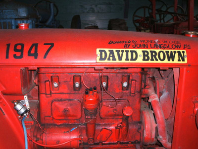 David Brown Tractor in Barn, 35