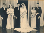 Evans and Dorreen family at a wedding.; 16-222