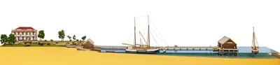 Model: Mangawai Wharf and Hotel; 799