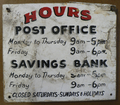 Sign - Mangawhai Post Office Savings Bank; 420