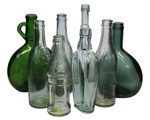 Glass Bottles x 7; 16-5
