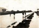 Moir Street, Mangawai Village flooding 1930's.; 16-119