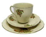 Cup and saucer with plate; 716