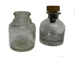 Set of two small Ink Bottles.; 302