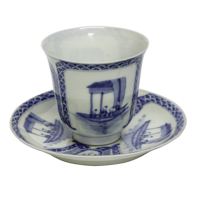 China cup and saucer; 715