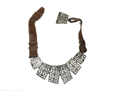 Belt - Silver and Leather; 248