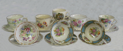 Tea Cup and Saucer Collection; 391