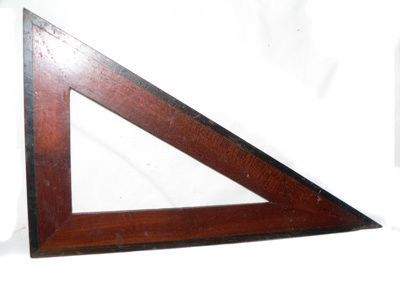 Wooden Triangle from a Compass Set; 305