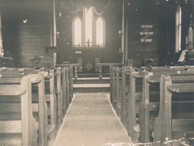 2nd St Michaels Church, Hakaru - interior. c. 1886; 17-25