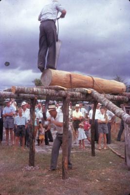 Pit Sawing Demonstration.; 18-114