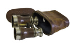 Binoculars in Brown Leather Case; 565