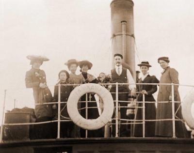 Wood Family Aboard SS Kawau; 19-155