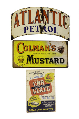Advertising Signs x 3; 16-132