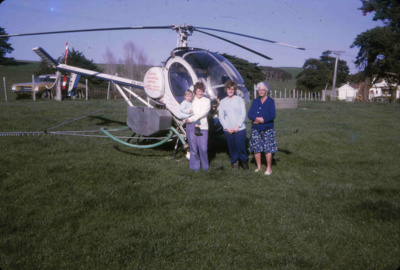 Helicopter at Bream Tail Farm; 18-136