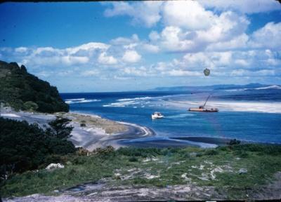 Sand Barge at Mangawhai Heads; 18-184