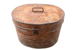 Large metal hat box.; 607