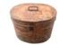 Large metal hat box.; 607