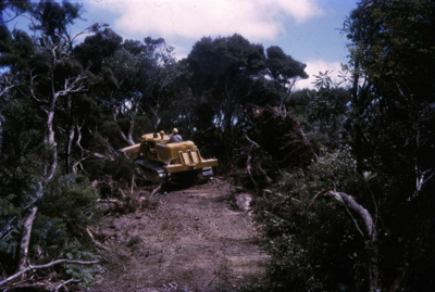 Bulldozer on Bream Tail Farm; 18-105