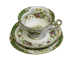 Cup, Saucer and Plate Collection x 4; 15-106