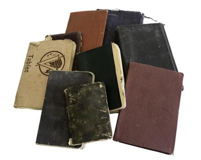 Diaries x 9, Notebook x 1; 917