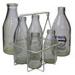 Milk Bottles and Holder; 16-3