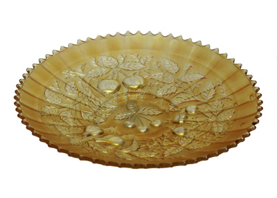 Carnival glass plate; 718