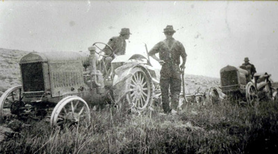 Tractors Ploughing; 16-188