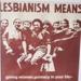 Lesbian Means, Lesbian Centre, Wellington,New Zealand, 1984, 2002