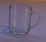 Etched Glass Mug, unknown, New Zealand, 1988, 118