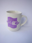 For Lesbian Lips Only Mug, Lesbian Radio, Wellington New Zealand, 1990s, 124