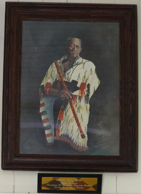 Framed painting of Reha Kau Hou, Chief of Ngati Tu...