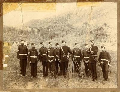 Group photo of Te Aroha's Rifle Volunteers