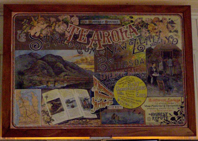 Promotional poster for Te Aroha. Te Aroha the Sana...