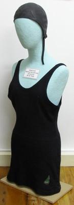 Full body fine wool knit women's bathing suit. Has...