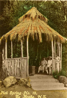 Photo of an early gazebo over Hot Spring No.15, Te...