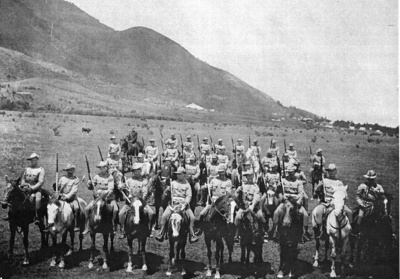Photo of Te Aroha's Mounted Troops