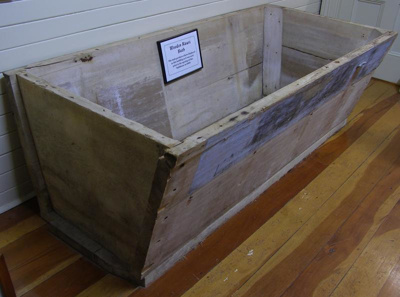 Kauri bath. Was used prior to the opening of the C...