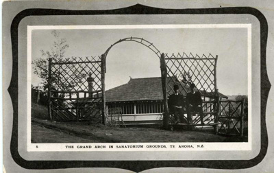 Postcard with photo of the entrance into the Tea K...