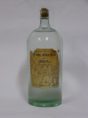 Te Aroha Mineral Water bottle. Contained water fro...
